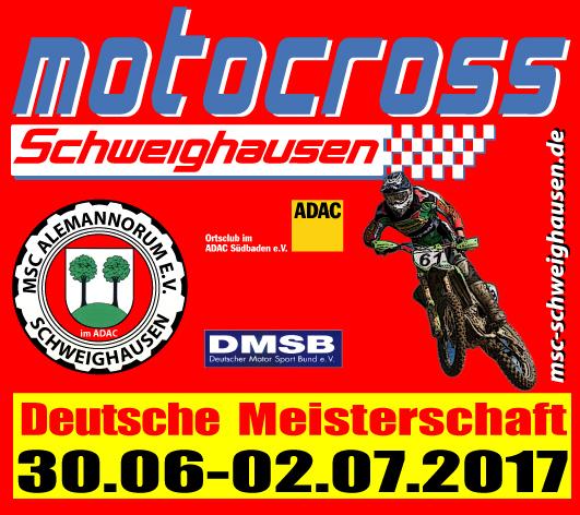 Plakat Motocross Schweighausen 2017